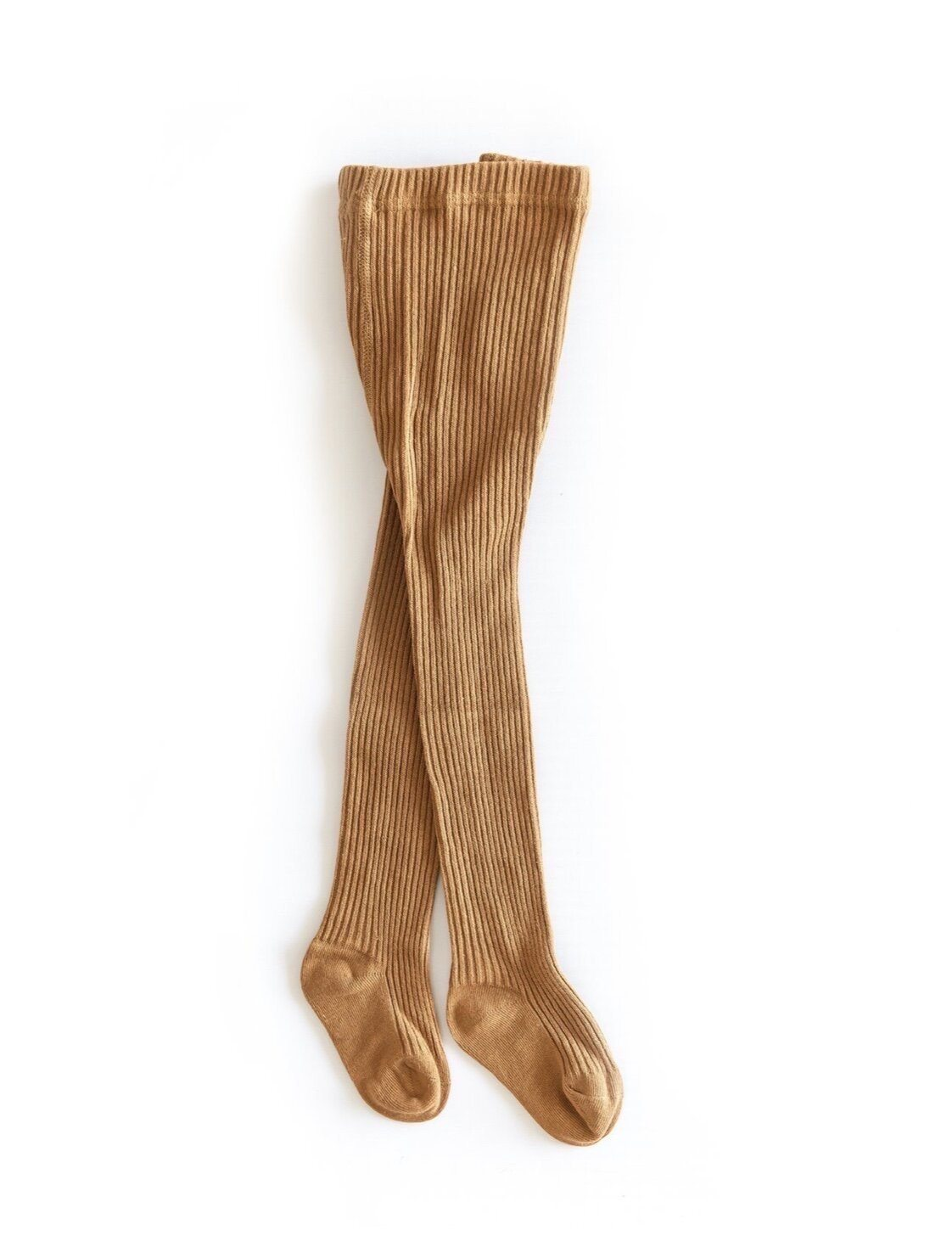 Beatrix Ribbed Tights - Mustard Indigo Attic