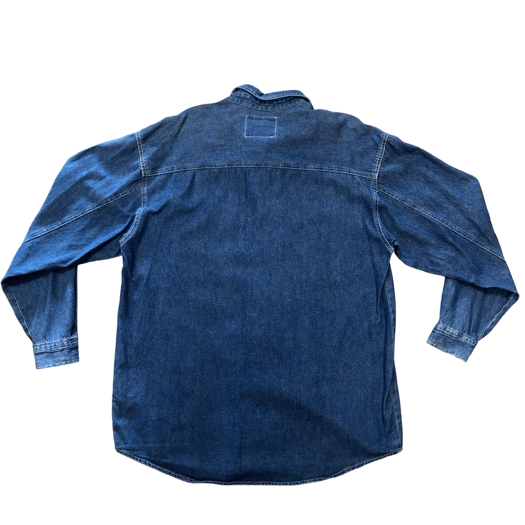 Vintage Mens Gitano Denim Shirt - M Indigo Attic