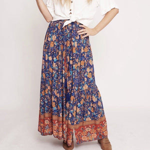Cobolt Blue Maxi Skirt Indigo Attic