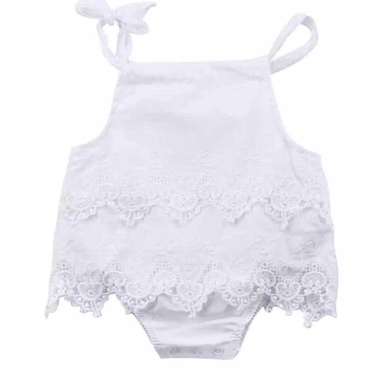 Edith Romper - White Indigo Attic