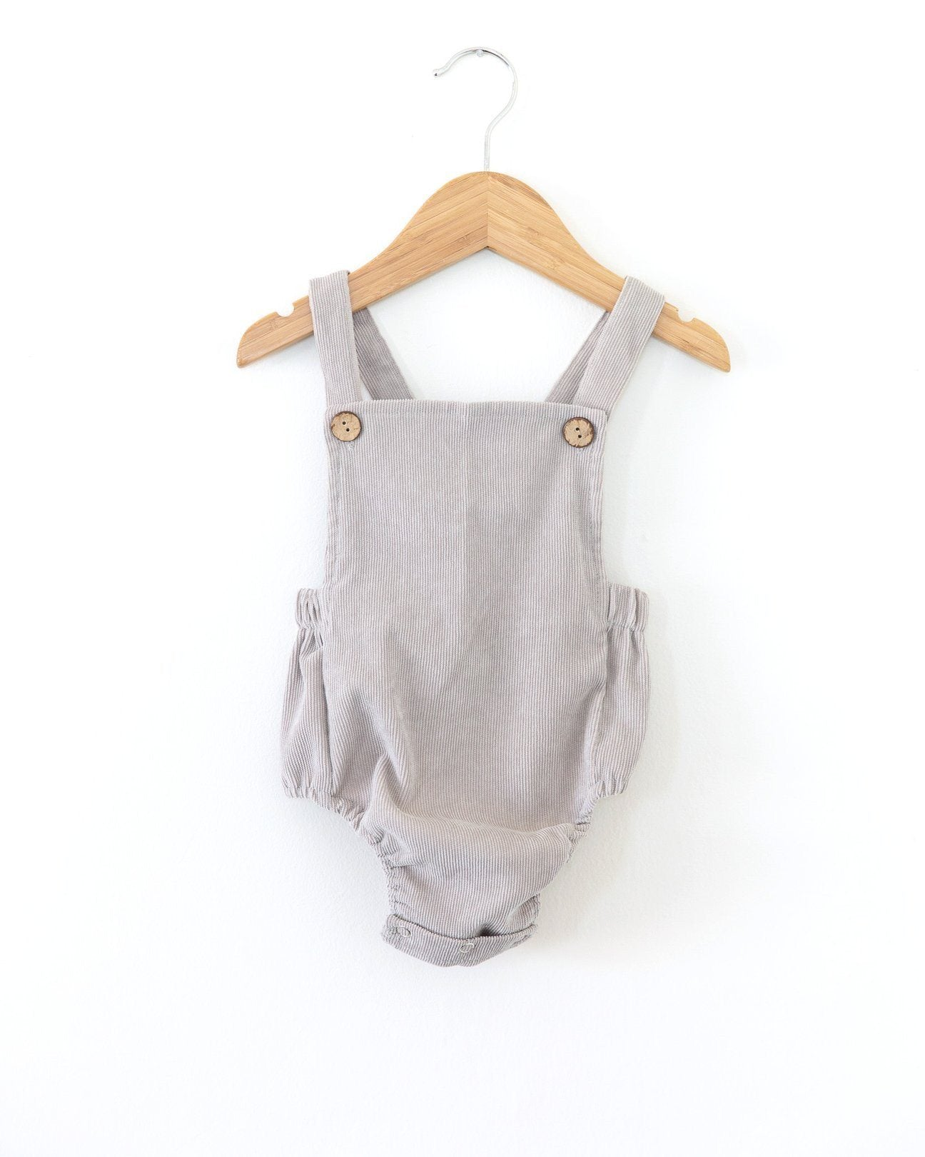 EDIT Kobe corduory romper - Grey INDIGO ATTIC
