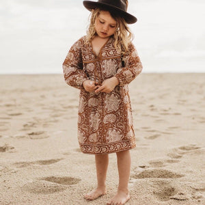 Little Luna Dress - Coffee Little Gypsy Co