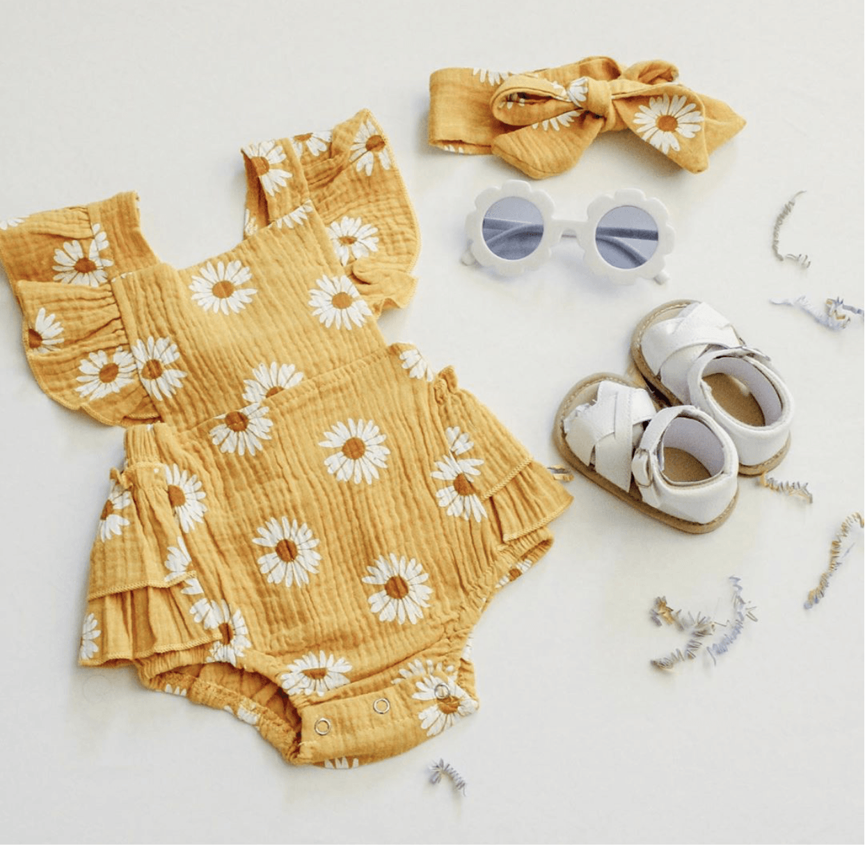 Daisy Romper - Yellow Indigo Attic