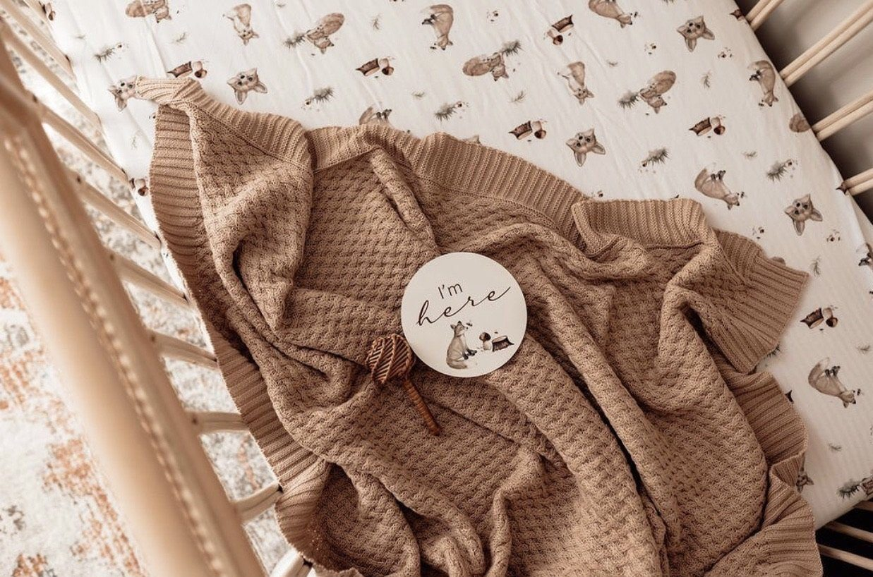 Fox Fitted Cot Sheet Snuggle Hunny