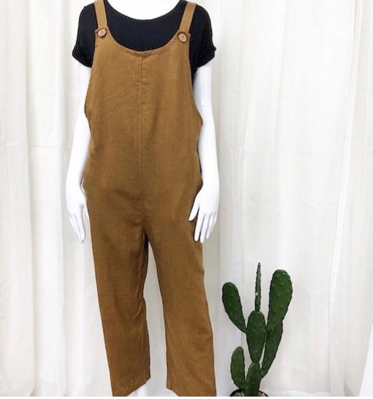 Willow Overalls - Tobacco Indigo Attic