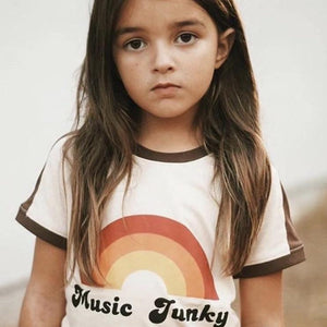 Music Funky Retro Tee Indigo Attic