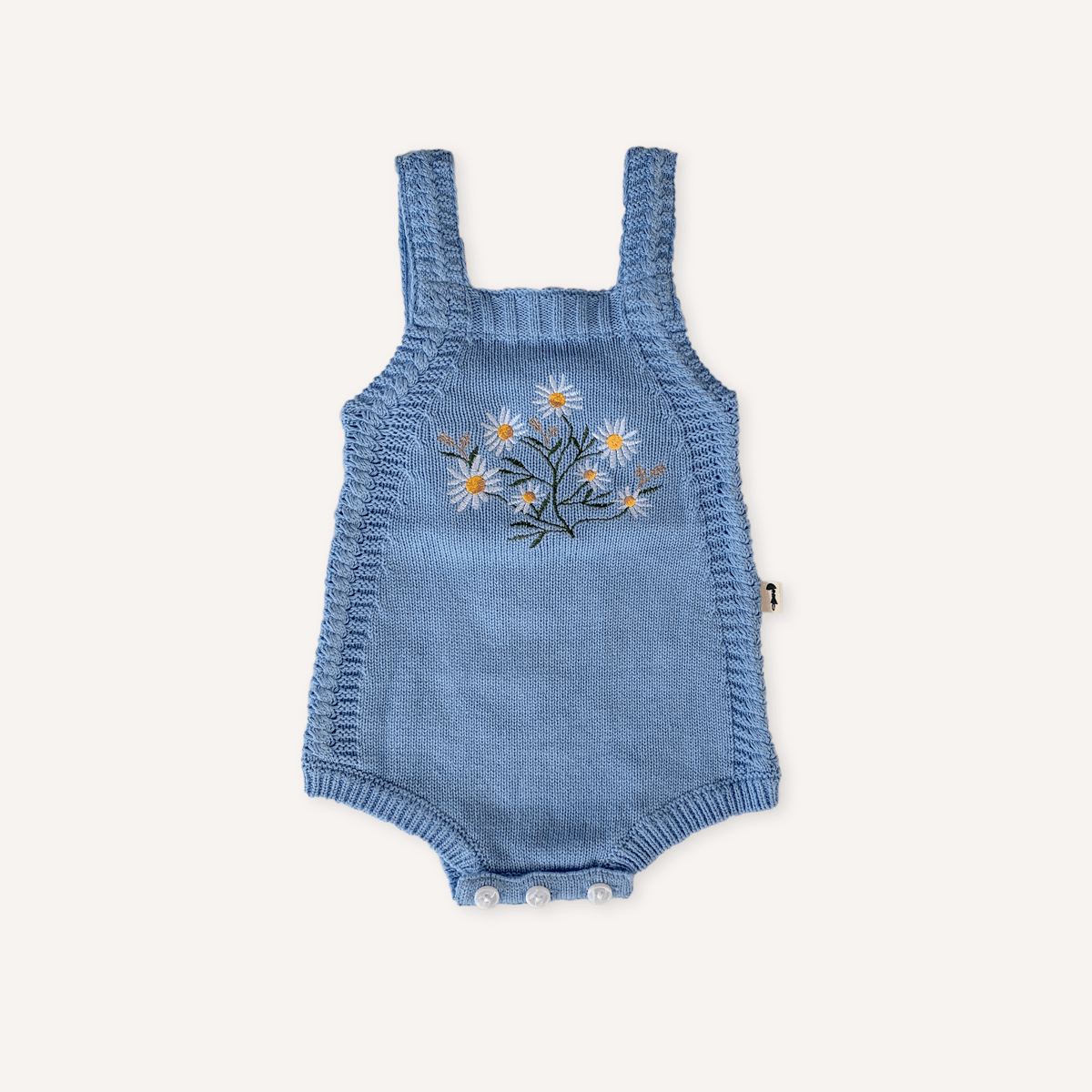 Daisy Knit Romper - Blue Lacey Lane