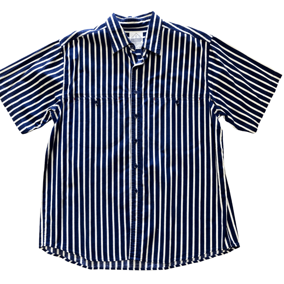 Vintage Mens Line-Up Shirt - M Indigo Attic
