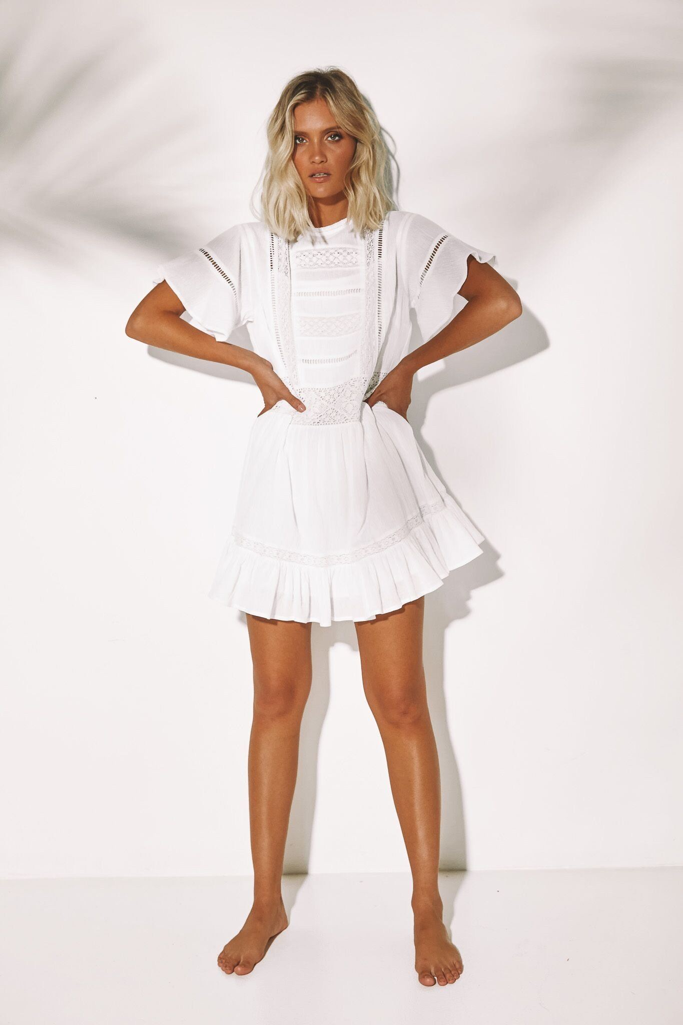 Wing Mini Dress - White SNDYS