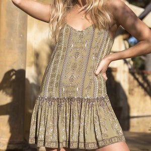 Indira Mini Dress - Olive Pastel Designs