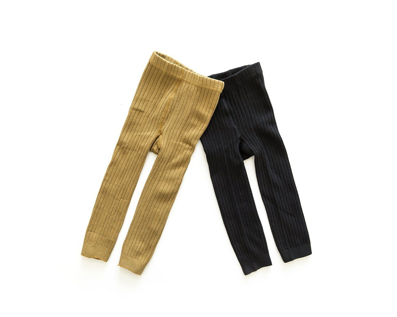 Ribbed Tights - Mustard Indigo Attic