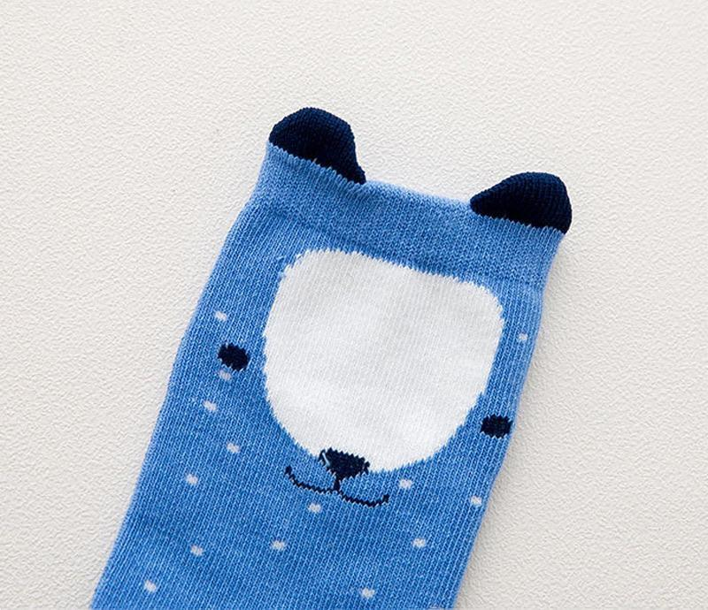 Little Bear Knee High Socks Indigo Attic