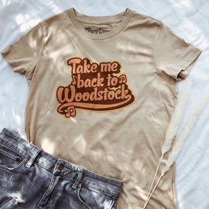 Take Me Back To Woodstock Tee Tiny Gypsy