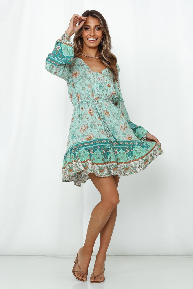 Sutton Mini Dress Indigo Attic