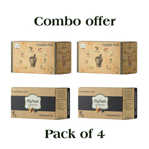 2 Masala Chai & 2 Chamomile Tea combo offer
