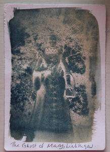 The Ghost of Mary - Small Cyanotype Print