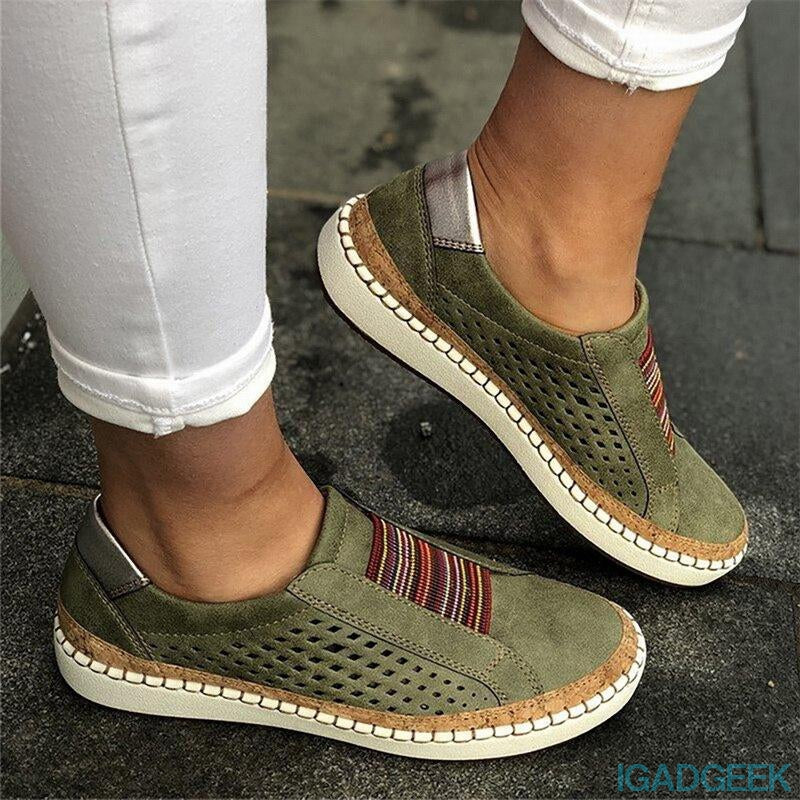 Hollow-Out Round Toe Women Casual Sneakers [Clearance SALE: Pay 2 Save more 15%]