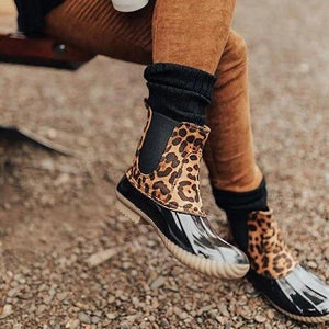 Women Two-Tone Slip-on Duck Boots [New Arrival SALE]