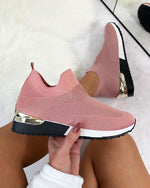 Women's Sneakers Elastic Slip on Flat Walking Shoes [Limited Sale Offer: Buy 2 Save More 15%]