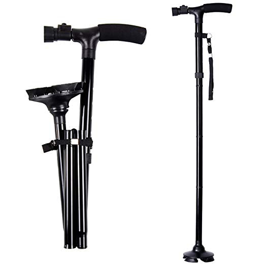 LED Light Folding Walking Cane