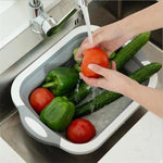 Eco-Friendly 3in1 Multi-Function Foldable Cutting Board, Washing Bowl & Draining Fruit Basket [Limited SALE: Pay 2 Save more 15%]