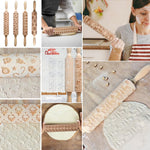 (2019 New Patterns) Christmas 3D Rolling Pin [Flash SALE: Pay 3 Get 1 Free]