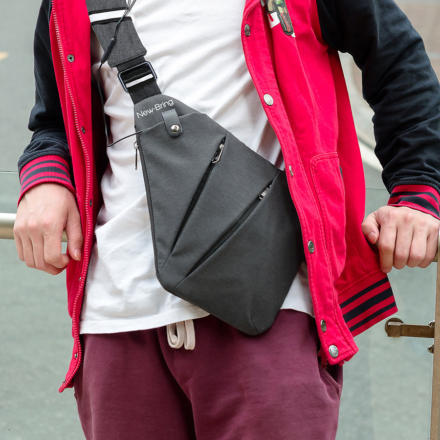 Anti Theft Multi Pocket Messenger Bag