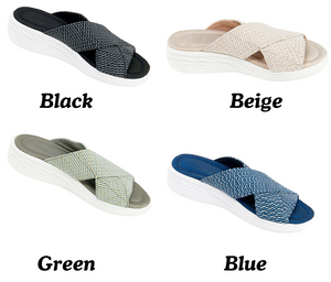 Women Stretch Cross Orthotic Slide Sandals [Limited time offer: Buy 2 Save More 15%]