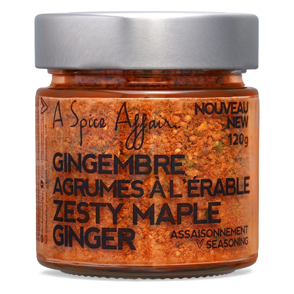 Zesty Maple Ginger Seasoning A Spice Affair. 120g (4.2 oz) Jar