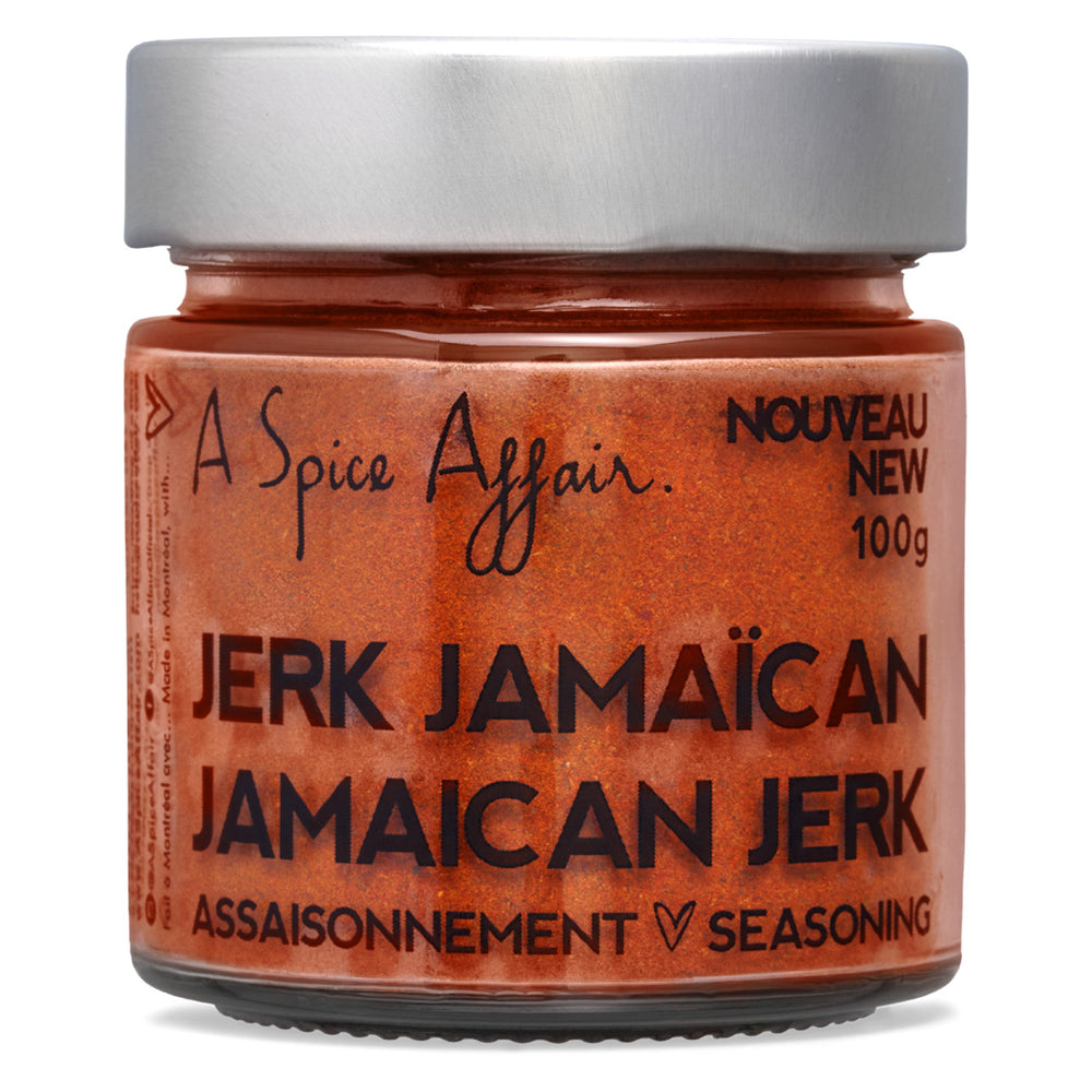 Assaisonnement Jerk jamaïcain A Spice Affair. Pot de 100 g (3,5 oz)