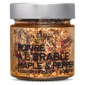 Maple & Pepper Seasoning A Spice Affair. 120g (4.2 oz) Jar