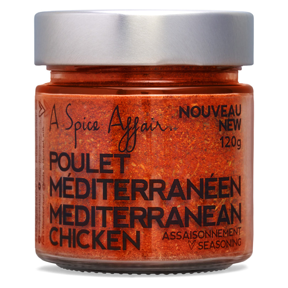 Chicken Mediterranean Seasoning A Spice Affair. 120g (4.2 oz) Jar