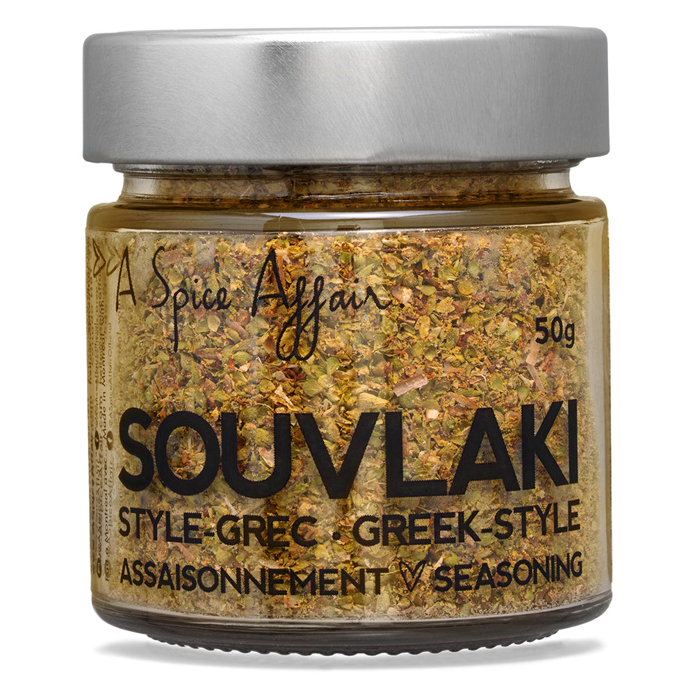 Souvlaki Seasoning A Spice Affair. 50g (1.8 oz) Jar
