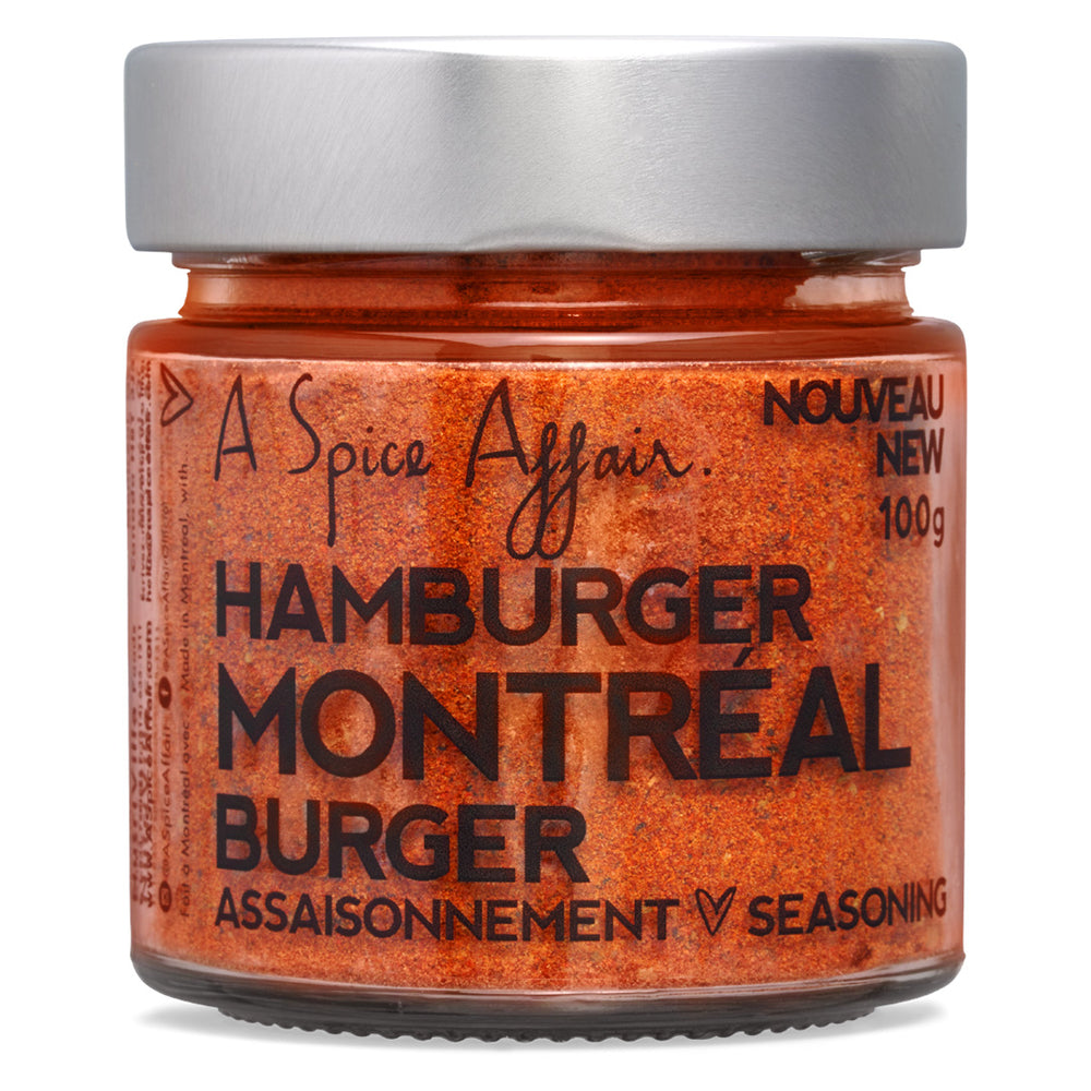 Assaisonnement Hamburger Montréal A Spice Affair. Pot de 100 g (3,5 oz)