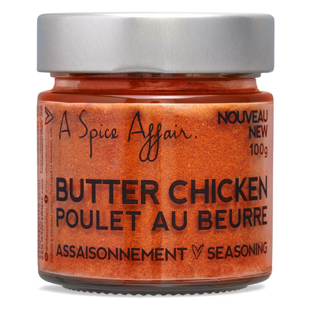Assaisonnement Poulet au beurre A Spice Affair. Pot de 100 g (3,5 oz)