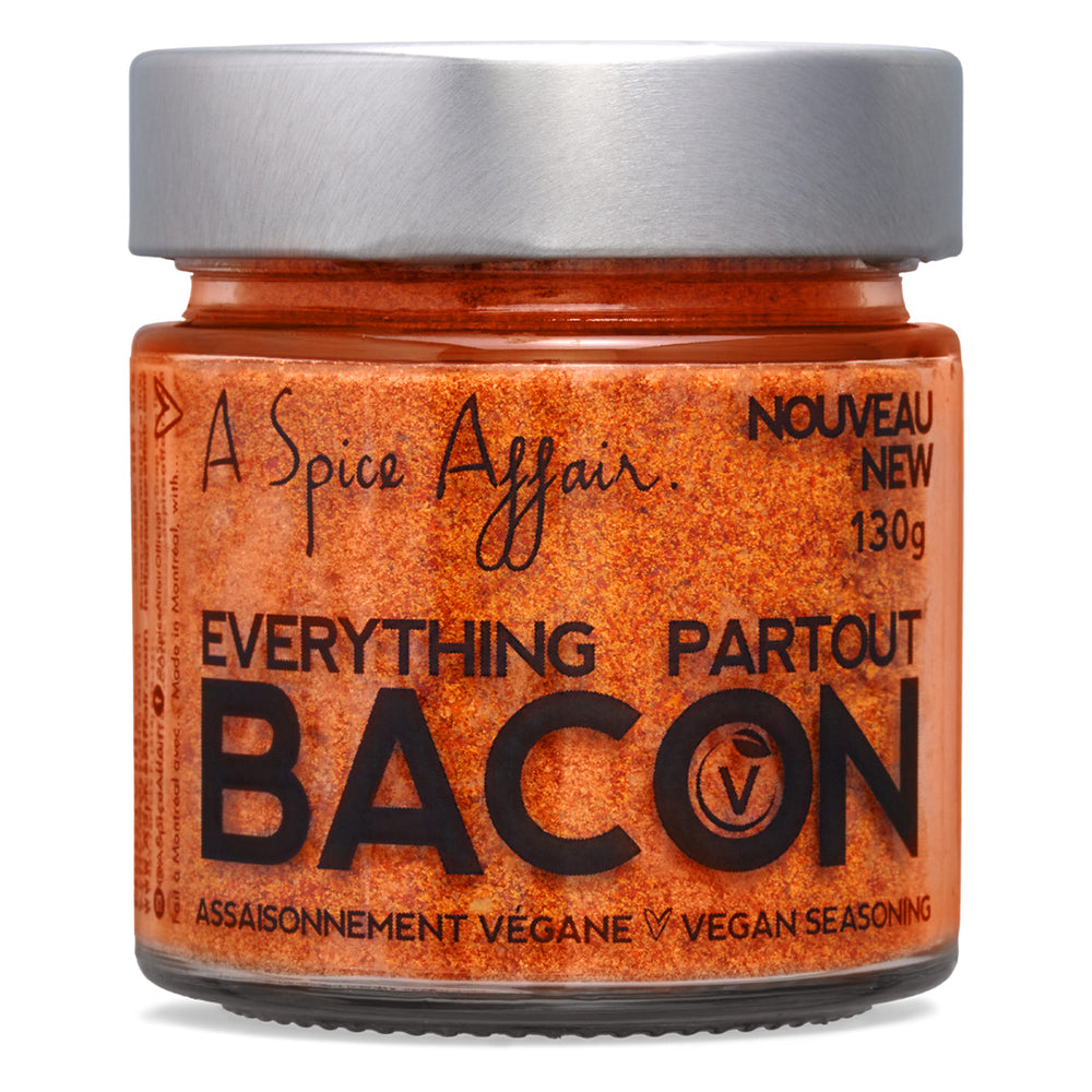 Everything Bacon Vegan Seasoning A Spice Affair. 130g (4.6 oz) Jar