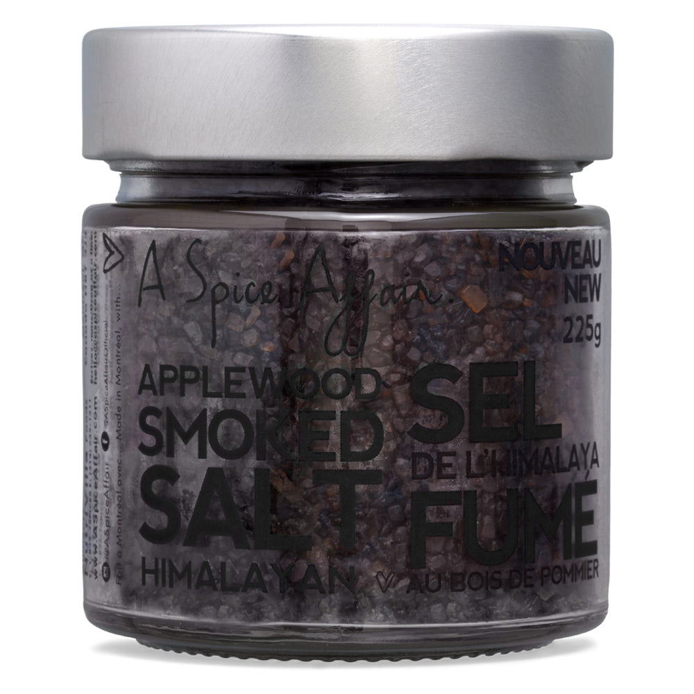 Applewood Smoked Himalayan Salt A Spice Affair. 225 g (7.9 oz) Jar