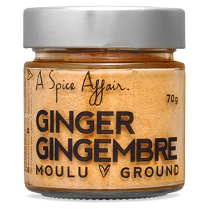 Ginger Ground A Spice Affair. 70g (2.5 oz) Jar