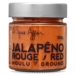 Jalapeno rouge moulu A Spice Affair. Pot de 100 g (3,5 oz)