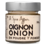 Oignon moulu A Spice Affair. Pot de 100 g (3,5 oz)