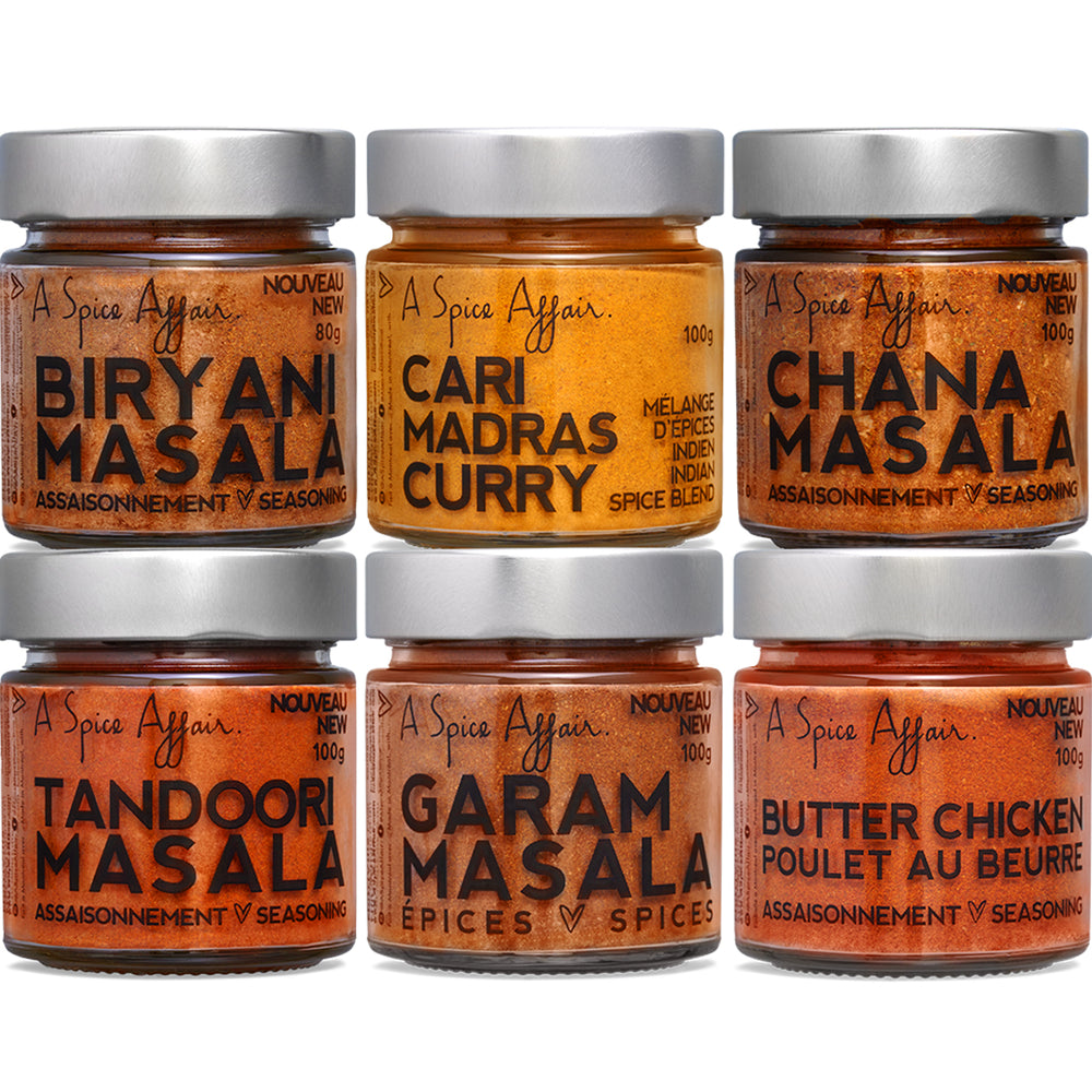 Assortiment Charmes Indiens A Spice Affair (6 pots)