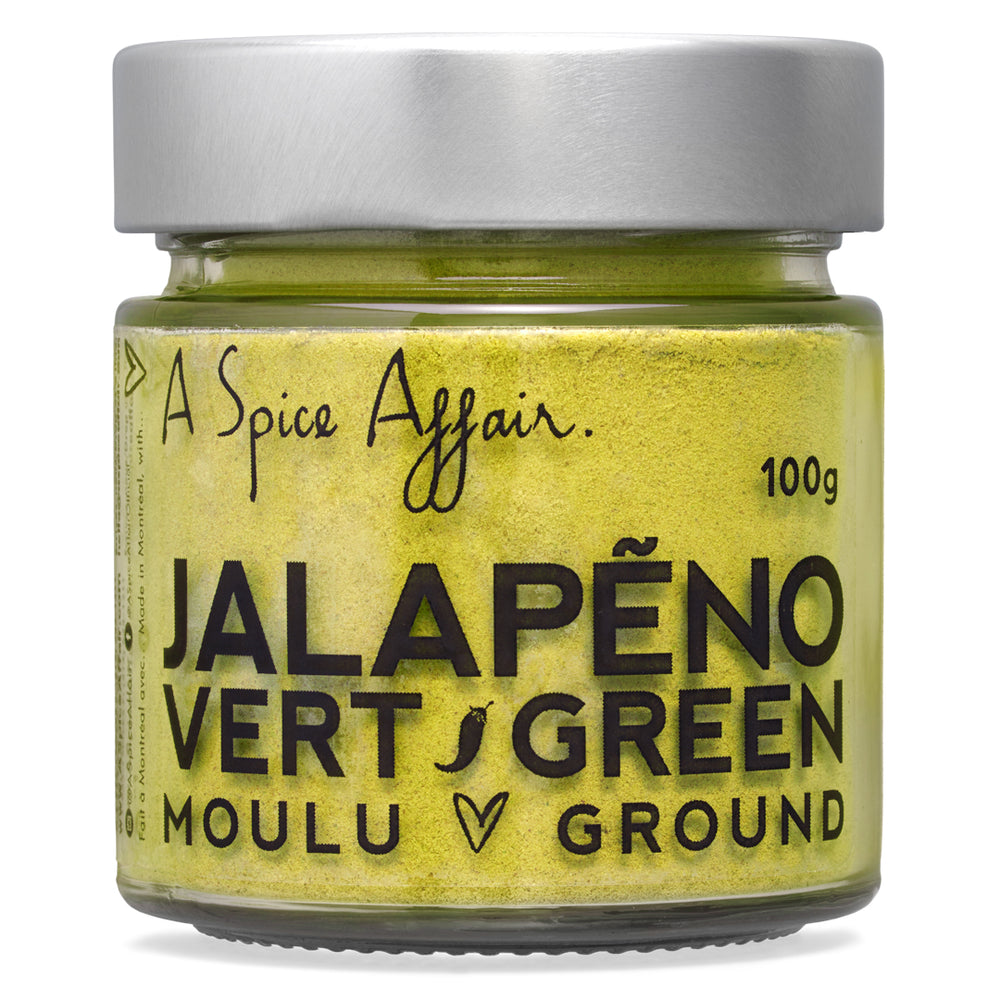 Jalapeno Green Ground A Spice Affair. 100g (3.5 oz) Jar