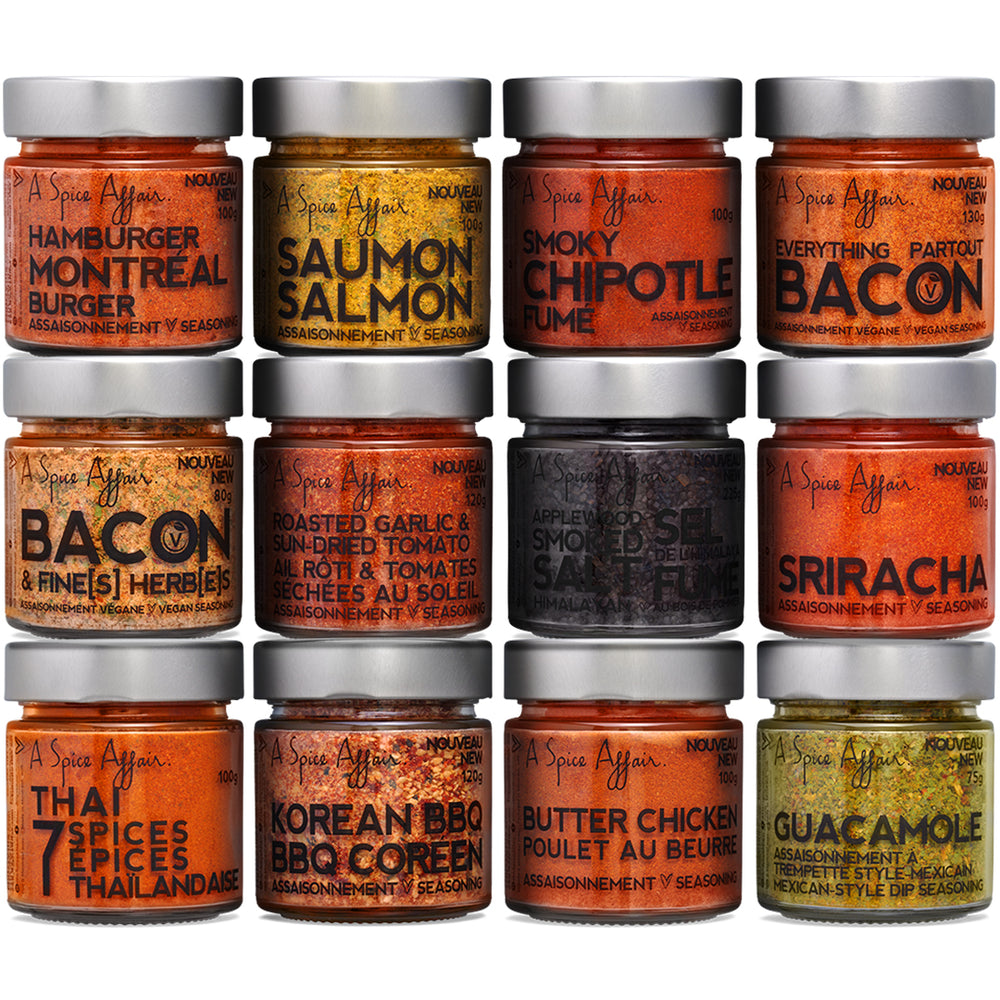 The Spice Guru 12-Pack Spice Set - A Spice Affair.