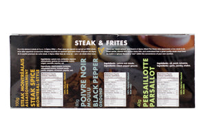 Steak Frites 3-pack Spice Set - A Spice Affair. 240g (8.4 oz)