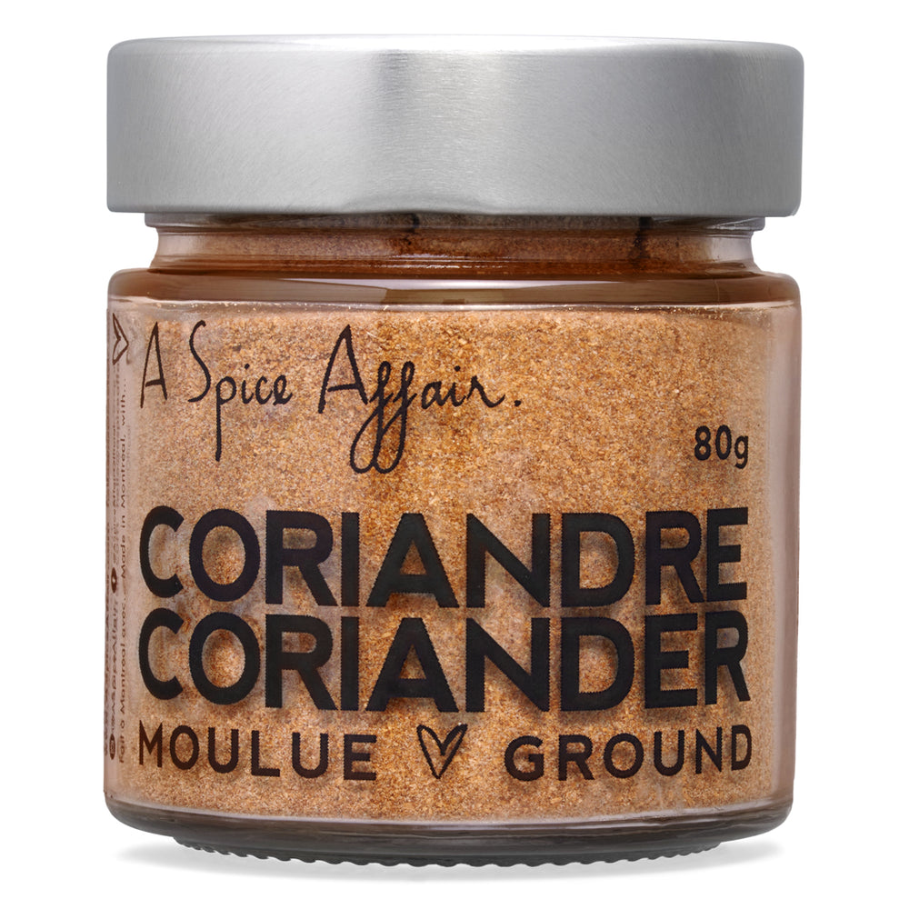 Coriandre moulue A Spice Affair. Pot de 80 g (2,8 oz)