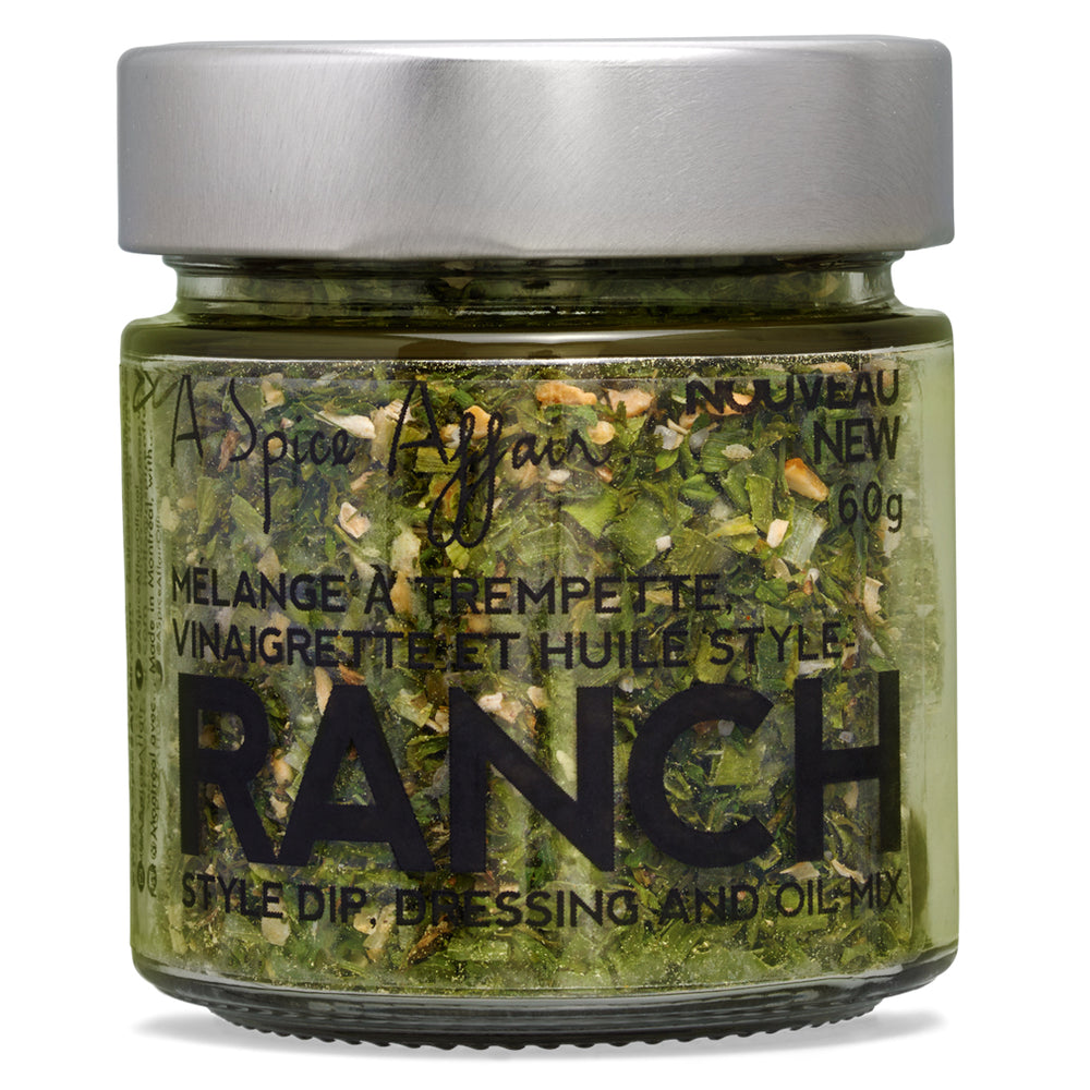 Mélange à trempette style Ranch A Spice Affair. Pot de 60 g (2.1 oz)