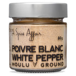 White Pepper Ground A Spice Affair. 80g (2.8 oz) Jar