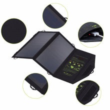 Load image into Gallery viewer, 14 watt - Portable Solar Panel Charger - dual USB output (5V),