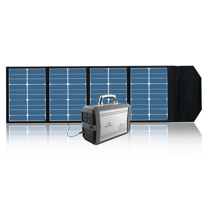 Solar Generator and Panel Combo -Powerhouse 300 + 90w Panel