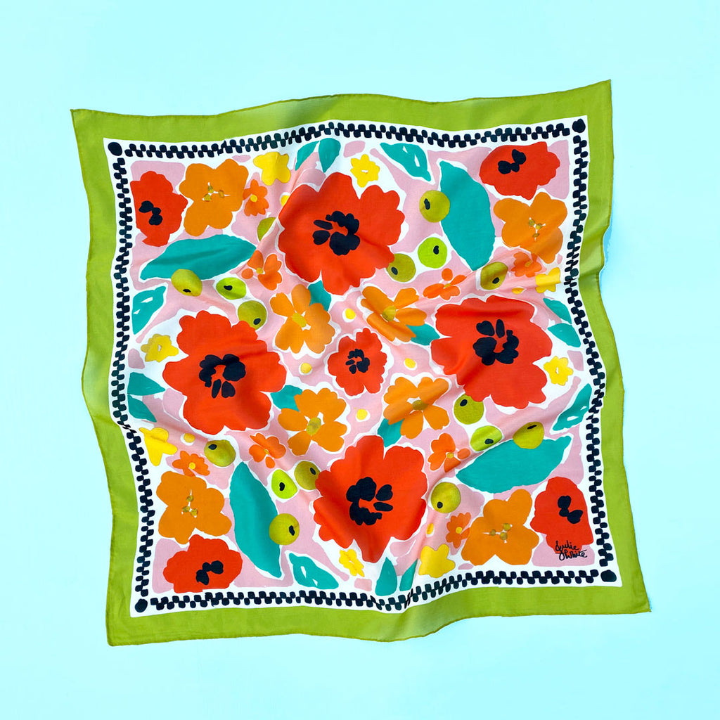 TROPICAL GARDEN - small scarf